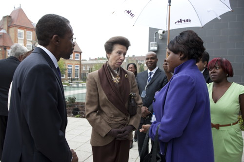 Princess Royal opens David Idowu Peace Garden at Walworth Academy