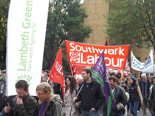 Southwark Labour cabinet members and anarchists join TUC march
