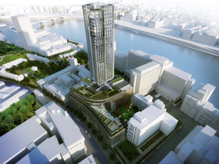 Milroy Walk closes as King's Reach Tower development begins