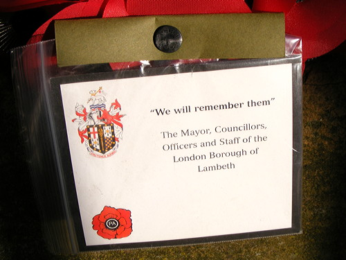 Remembrance Sunday 2012 in SE1