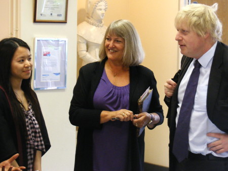 Dr Irene Bishop with Mayor of London Boris Johnson