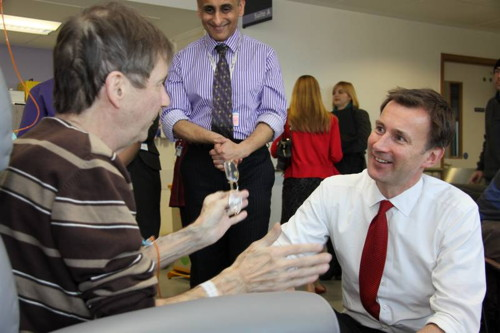 Jeremy Hunt meets patients and staff at Guy's Hospital