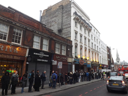 Hundreds queue in Borough High Street for free Shard tickets