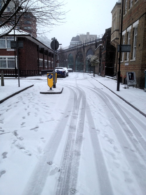 Simon Hughes: icy pavements in Southwark