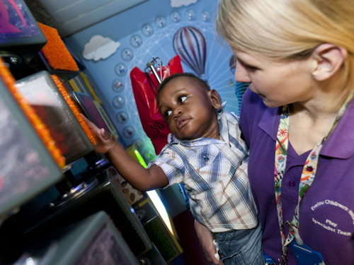 Children's hospital play room transformed by Merlin's Magic Wand