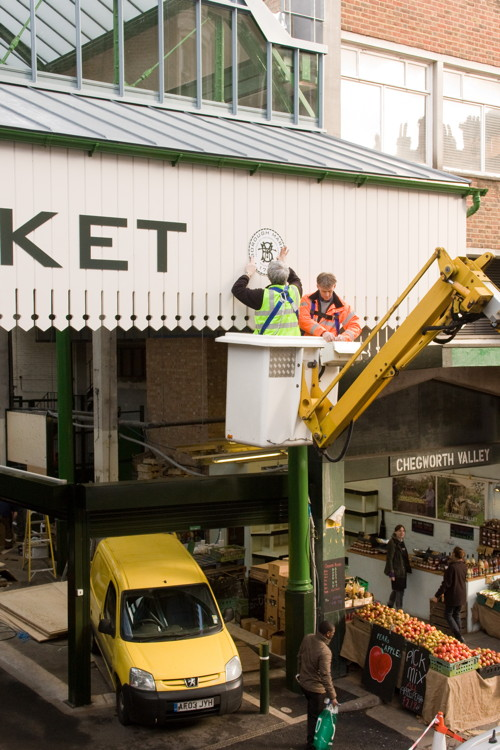 Finishing touches applied to refurbished Borough Market hall