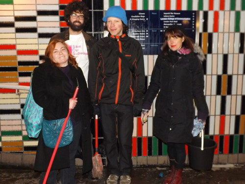 'Guerrilla grime busters' clean up Elephant & Castle subway