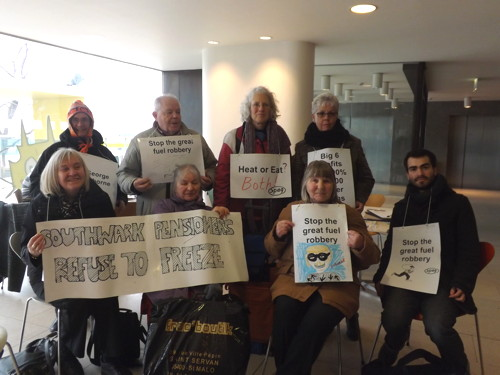 Police eject pensioner protesters from Royal Festival Hall