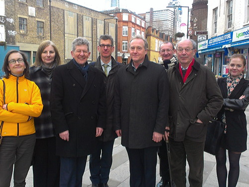 Communities minister Don Foster visits Bankside to check on neighbourhood plan progress