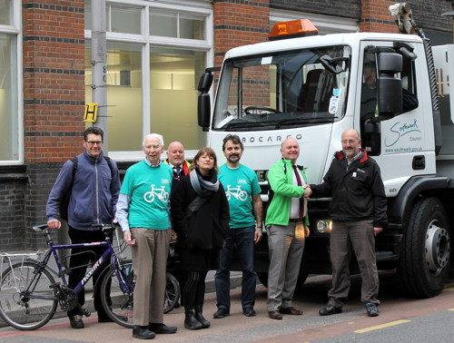 Southwark signs 'Safer Lorries for Safer Cycling' pledge
