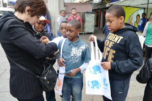 Young traders double their money with Elephant & Castle tote bags