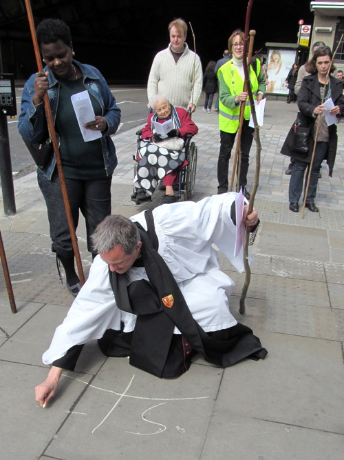 Waterloo church revives custom of 'beating the bounds' of parish