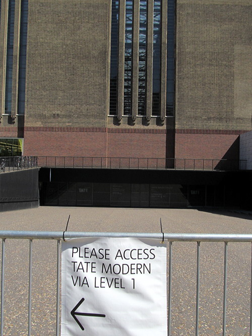 Tate Modern's turbine hall shut for rest of year