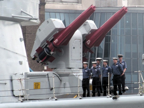 HMS Edinburgh makes final visit to London