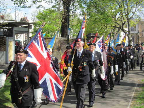 Veterans parade through Geraldine Mary Harmsworth