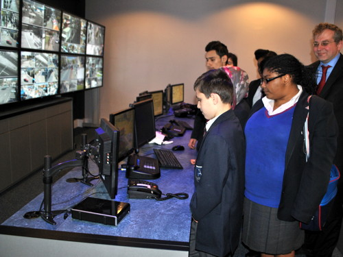 Walworth Academy pupils visit Southwark CCTV control centre