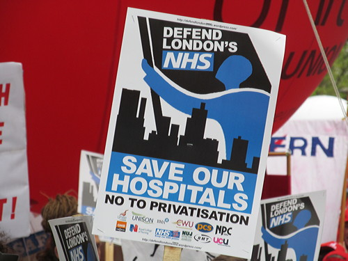 Hundreds gather on South Bank for Defend London's NHS protest