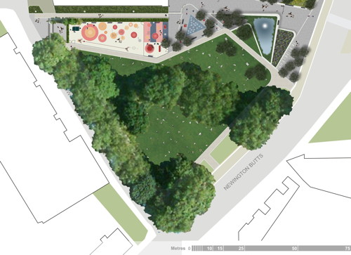 New plans for St Mary's Churchyard at Elephant & Castle
