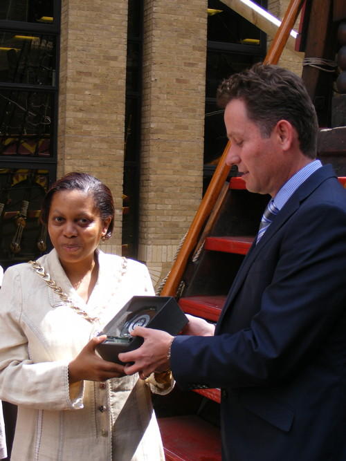 Southwark Mayor Althea Smith ends year as borough's first citizen with Golden Hinde reception