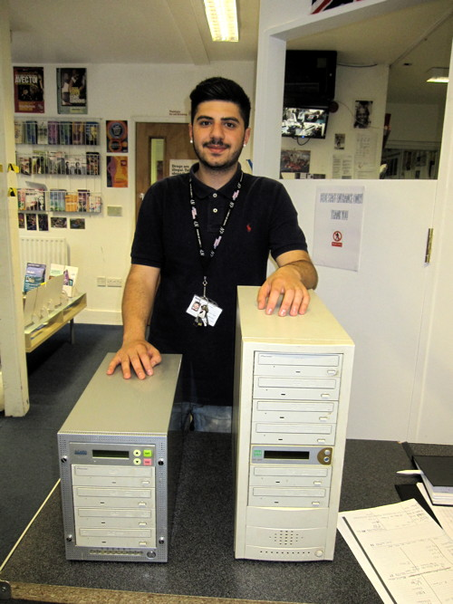 DVD burner seized from video shop donated to Bede House