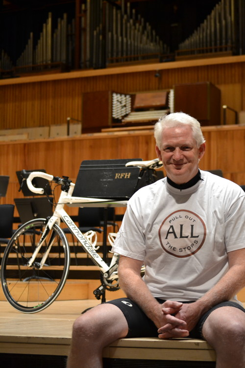Durham to London bike ride in aid of Festival Hall organ appeal