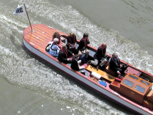 Princess takes to the Thames to watch Doggett's Coat & Badge Race