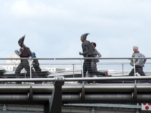 Guardians of the Galaxy movie filmed at Millennium Bridge