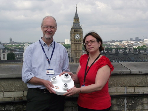 UV monitor installed on roof of St Thomas' Hospital