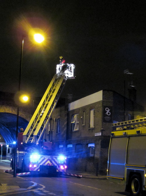 Dramatic fire in Rushworth Street