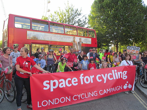 Thousands of cyclists join South Bank protest