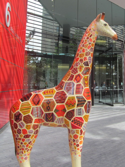 Giraffes take up residence at More London