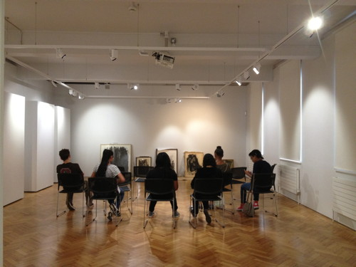 Southwark sixth-formers visit Borough Road Gallery