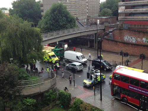 Pedestrian 'serious but stable' after New Kent Road collision