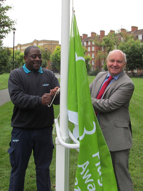 Green flag raised at Tabard Gardens