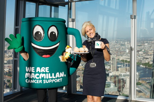 Shard hosts London's highest coffee morning