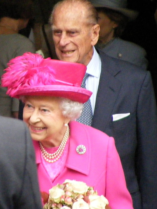 Queen and Duke of Edinburgh visit National Theatre