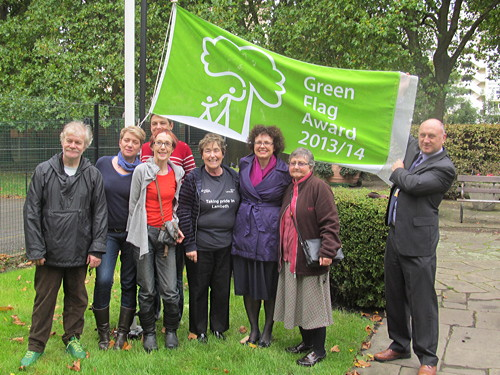 Green flag raised at Archbishop's Park