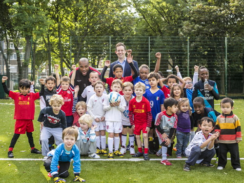 Sports minister visits London Nautical School & Hatfields pitches