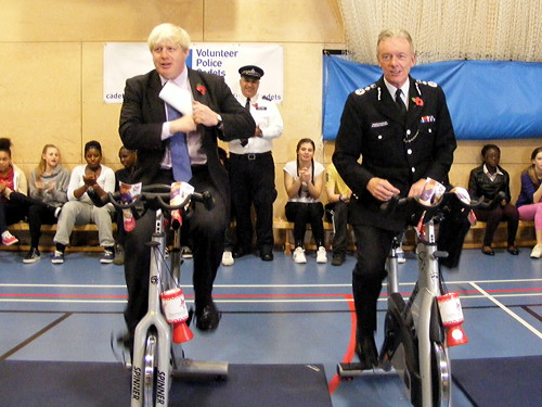 Boris Johnson and Met commissioner visit Southwark police cadets