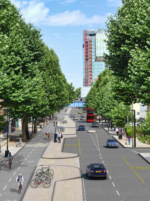 Radical plans for Blackfriars Road in new north-south cycle route