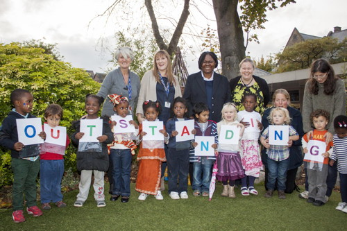 Kintore Way nursery school celebrates 'outstanding' Ofsted rating