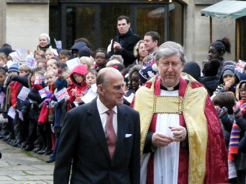 Queen visits the Shard and Southwark Cathedral