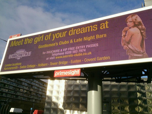 Controversial lap dancing ad to be removed from Elephant & Castle