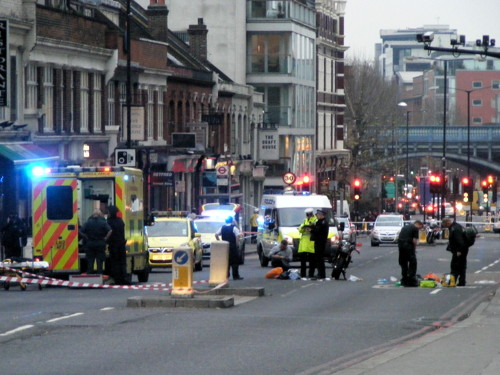 Pedestrian 'critical' after Tower Bridge motorcycle collision