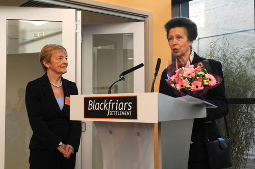 Princess Royal opens Blackfriars Settlement's new centre