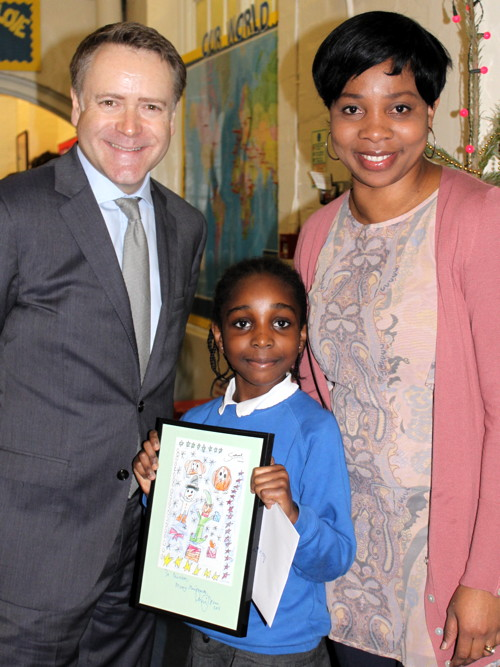 Bermondsey schoolgirl designs Southwark Council's Christmas card