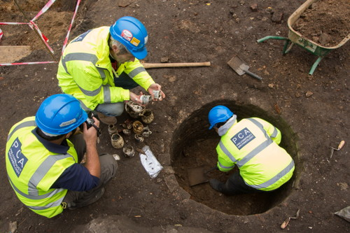 Mosque volunteers join archaeological dig at Dickens Square
