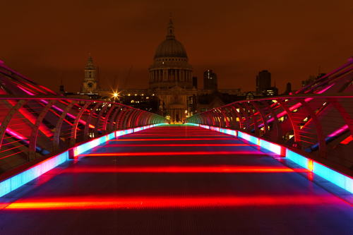 Millennium Bridge could turn green and yellow for World Cup