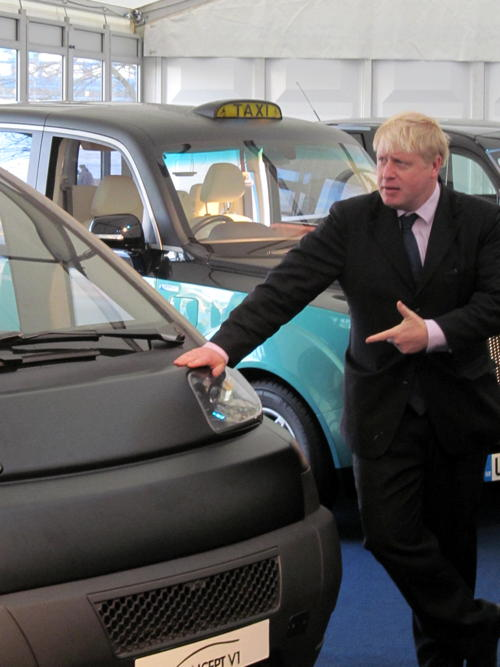 Mayor checks out zero-emission taxis at Potters Fields Park