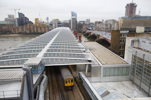 Blackfriars Station's solar bridge officially launched
